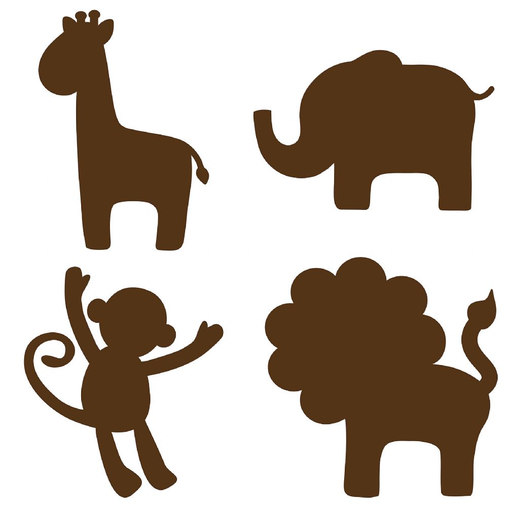 Jungle Silhouettes - Espresso Brown Wall Sticker Set